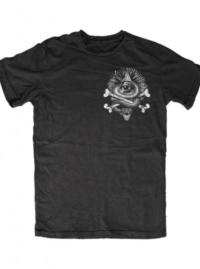 "Men's ""Don't Tread On Me"" Tee by Skygraphx (Black) - www.inkedshop.com"