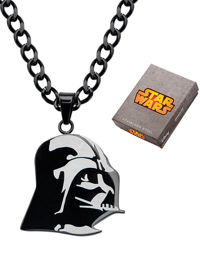 """Darth Vader"" Pendant with 24"" Chain by Inox Jewelry (Black) - www.inkedshop.com"