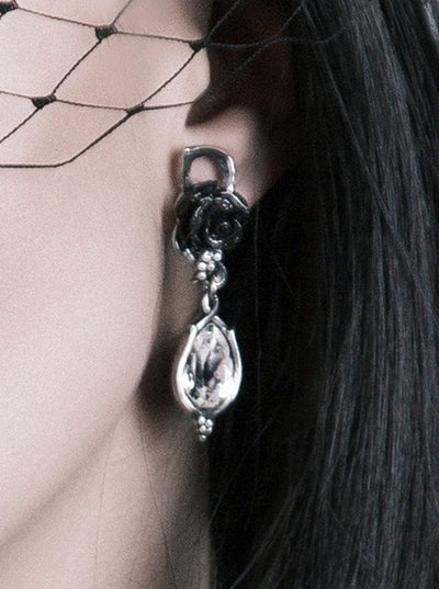 """Bacchanal Rose"" Earrings by Alchemy of England - www.inkedshop.com"