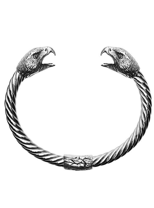 """Eagle"" Bangle Bracelet by Silver Phantom Jewelry"