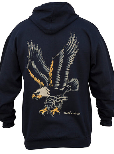 Men's Eagle Zip-Up Hoodie by Black Market Art