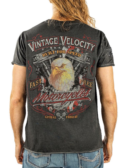 Men's Eagle Motorcycle Tee by Lethal Threat
