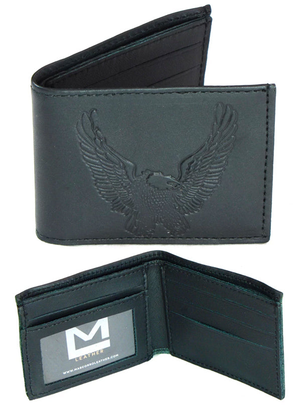 Open Eagle Oil Tanned Slim Billfold Wallet