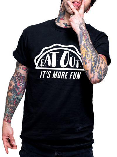 "Men's ""Eat Out"" Tee by Dirty Shirty (Black)"