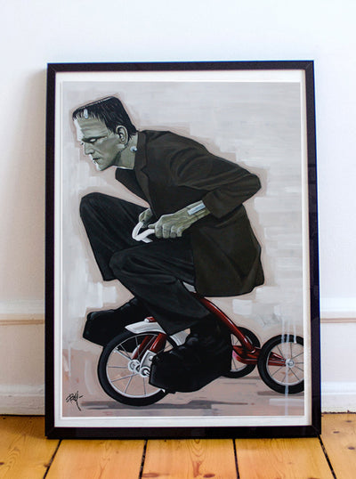 Eat My Dust Print by Mike Bell for Lowbrow Art Company
