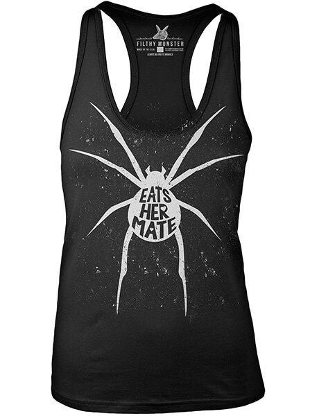 "Women's ""Eats Her Mate"" Tank by Filthy Monster Clothing (Black) - www.inkedshop.com"