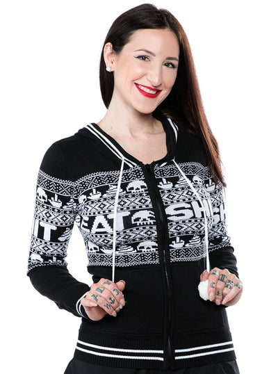 Women's Eat Sh*t Knit Hoodie by Sourpuss