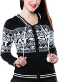 "Women's ""Eat Sh*t"" Knit Hoodie by Sourpuss (Black)"