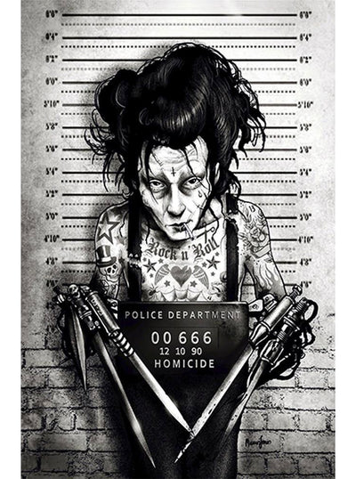 Eddie Print By Marcus Jones for Lowbrow Art Company