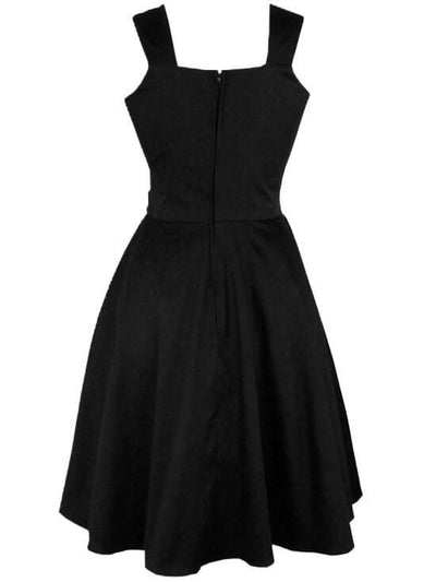 "Women's ""Edgar Allen Poe"" Full Circle Dress by Hemet (Black) - www.inkedshop.com"