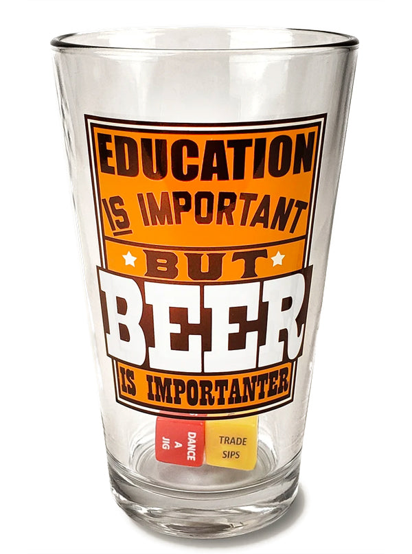 Education Beer Party in a Pint Glass by Trixie & Milo