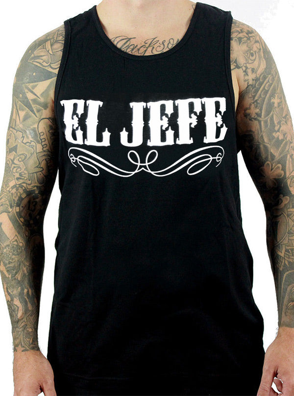 Men's El Jefe Tank Top by Cartel Ink