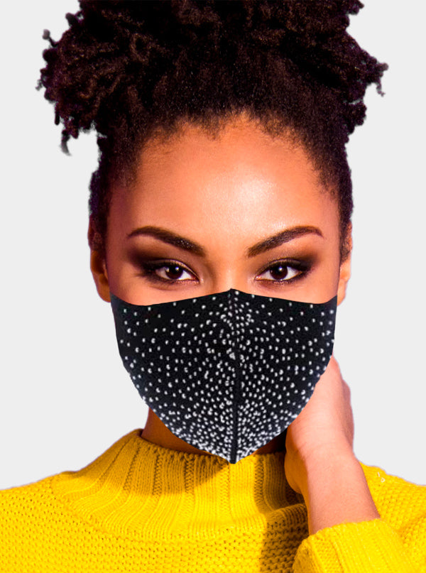 Stud Stone Embellished Face Mask
