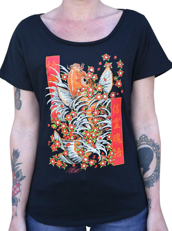 Women's Enlightenment Dolman Tee by Black Market Art