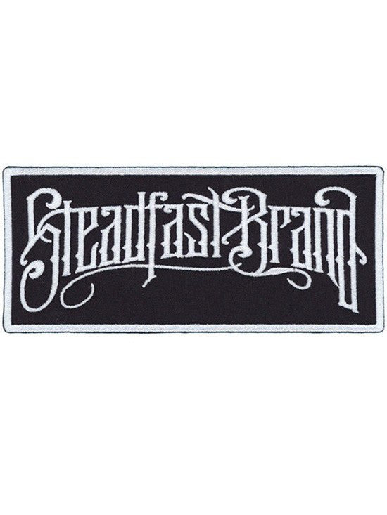 """Noir Logo"" Embroidered Patch by Steadfast Brand (Black) - www.inkedshop.com"