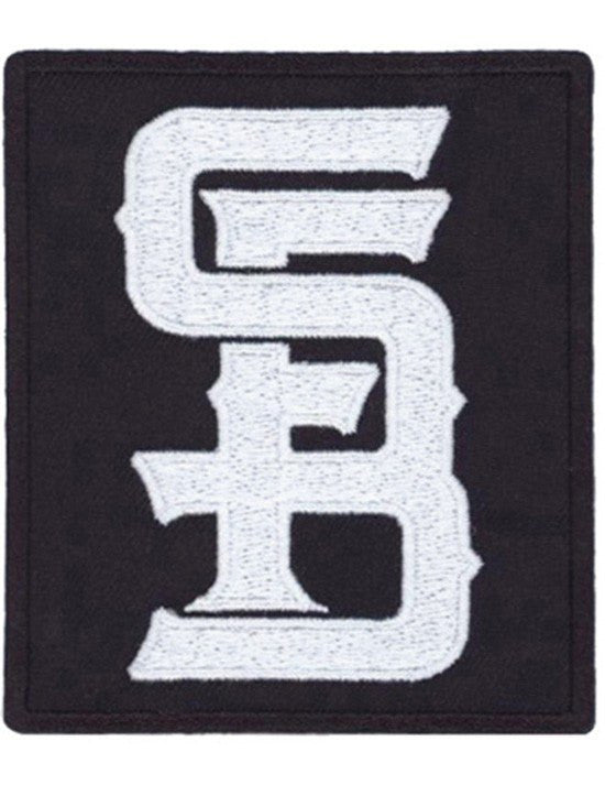 """SFB Monogram Logo"" Embroidered Patch by Steadfast Brand (Black) - www.inkedshop.com"