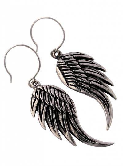Angel Wing Earrings by Femme Metale - www.inkedshop.com