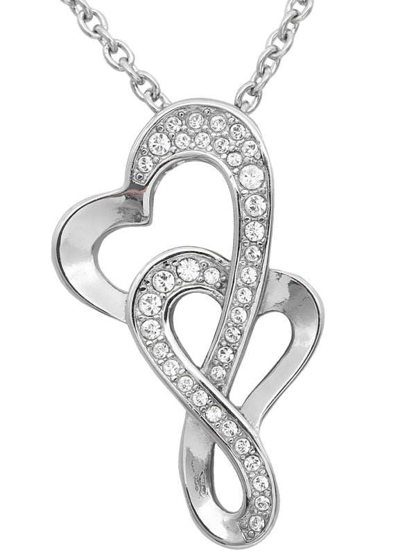 """Eternal Love Heart"" Necklace by Controse (Silver)"