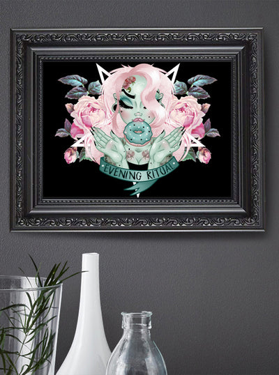 Rituals Print by Miss Cherry Martini for Lowbrow Art Company