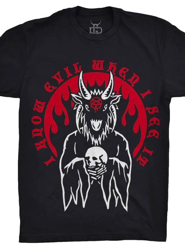 Unisex I Know Evil Tee by Ghost and Darkness