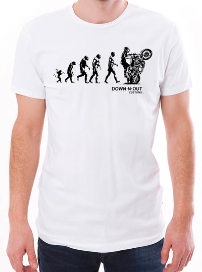 Men's Biker Evolution Tee by Down N Out