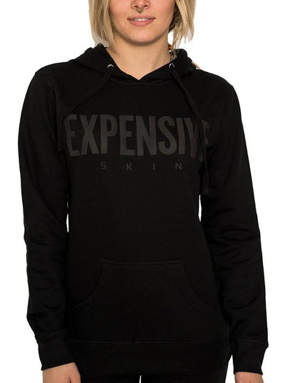 "Women's ""Expensive Skin Puff"" Hoodie by InkAddict (Black Collection)"