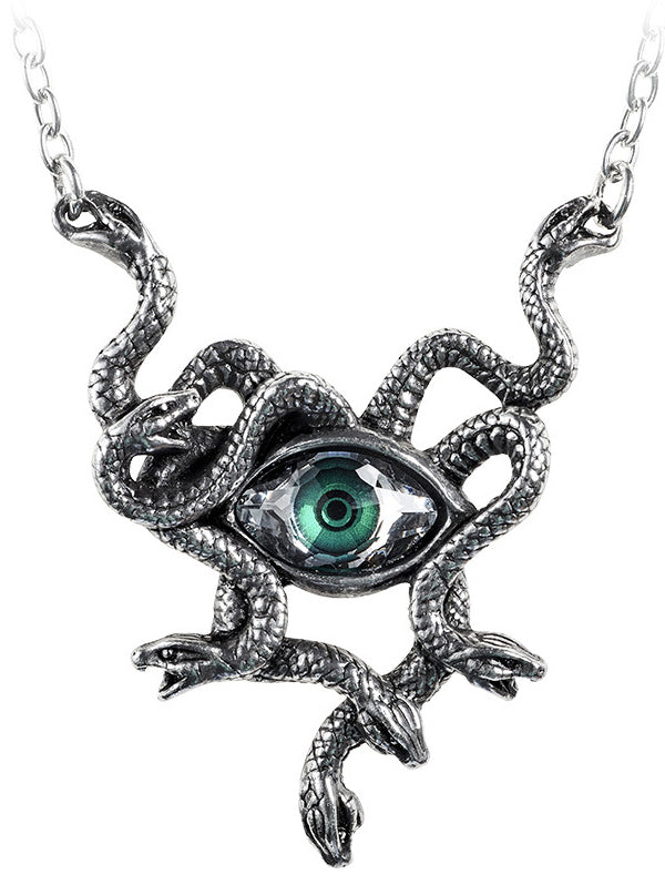 Gorgons Eye Necklace by Alchemy of England (Pewter)