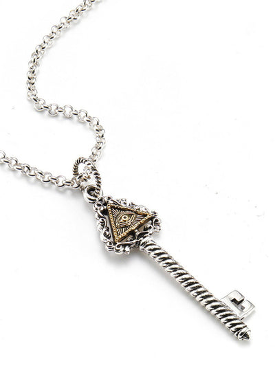 """Eye of Providence"" Necklace by Silver Phantom Jewelry"