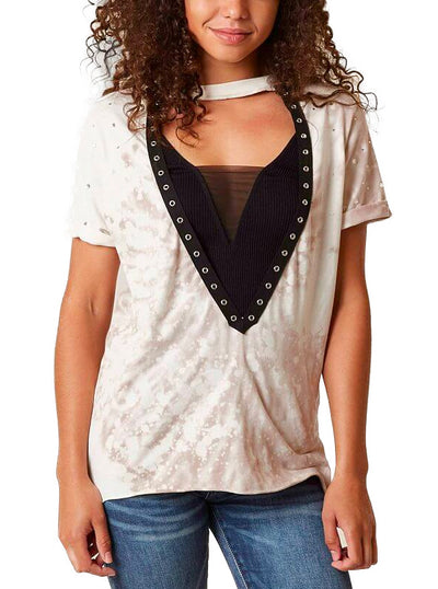 Women's Standard Supply Eyelet Tee by Affliction
