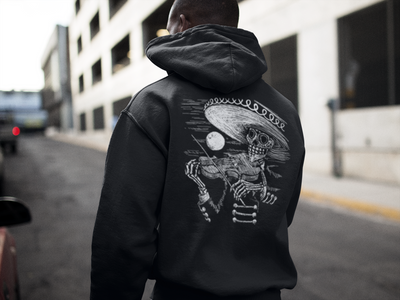 Men's Face the Music Hoodie by Tat Daddy
