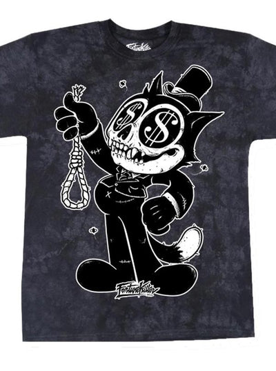"Men's ""Fat Cat"" Tee by Fortune Killer (Black)"