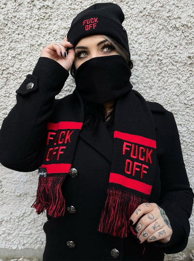 F*ck Off Knit Hat by Sourpuss