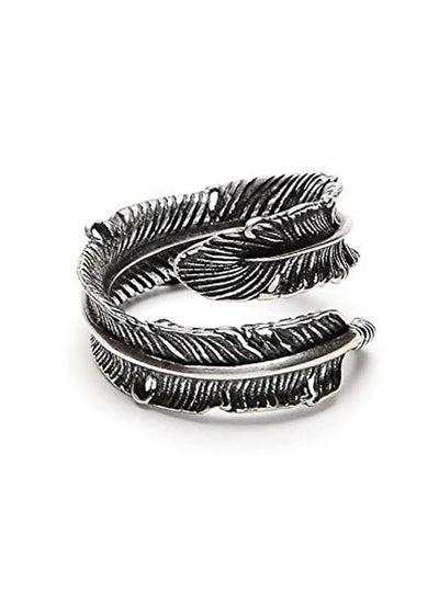 Feather Ring by Silver Phantom Jewelry