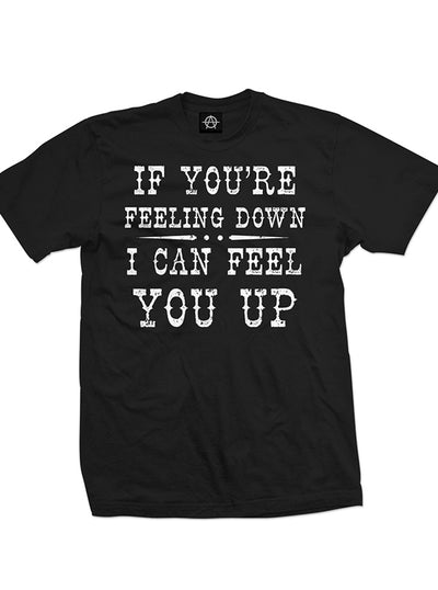 "Men's ""If You're Feeling Down I Can Feel You Up"" Tee by Aesop Originals (Black)"