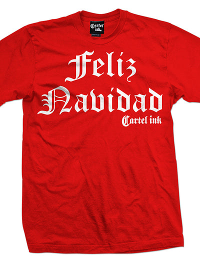 Men's Feliz Navidad Tee by Cartel Ink