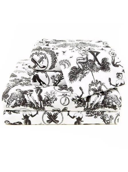 """Fetish Al Fresco"" Sheet Set by Sin In Linen - www.inkedshop.com"