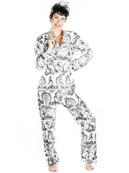 "Women's ""Fetish Al Fresco"" Pajamas by Sin In Linen - www.inkedshop.com"