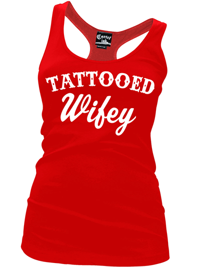 "Women's ""Tattooed Wifey"" Tank by Cartel Ink (More Options) - www.inkedshop.com"