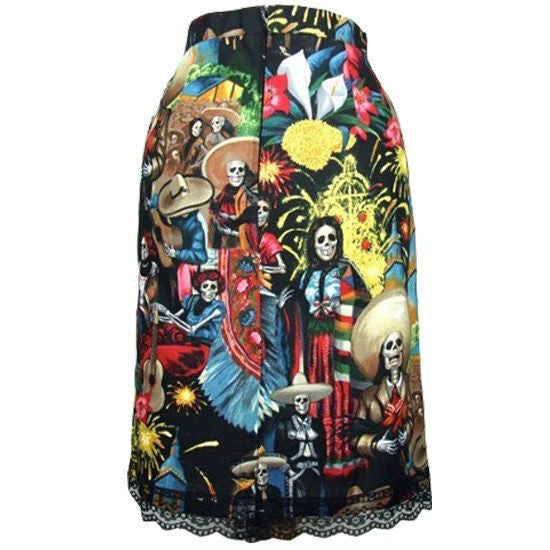 "Women's ""Fiesta de San Marcos"" Pencil Skirt by Hemet - InkedShop - 1"