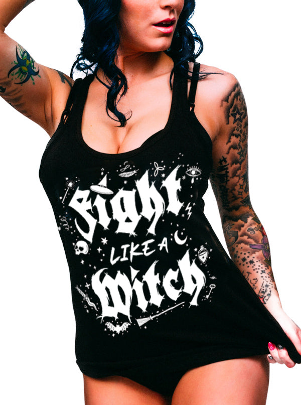 Women's Fight Like A Witch Tank by Dirty Shirty
