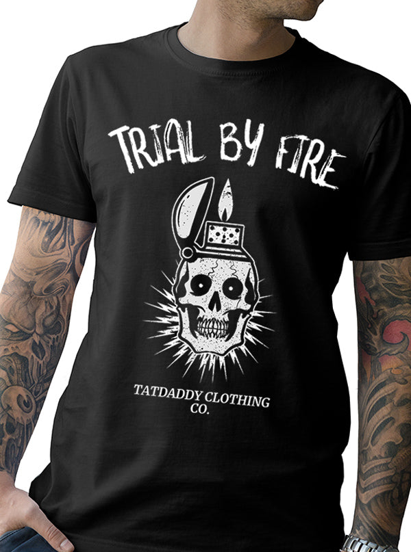 "Men's ""Trial By Fire"" Tee by Tat Daddy (Black)"