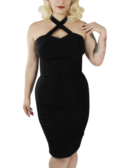 Women's Criss Cross Fitted Dress by Hemet