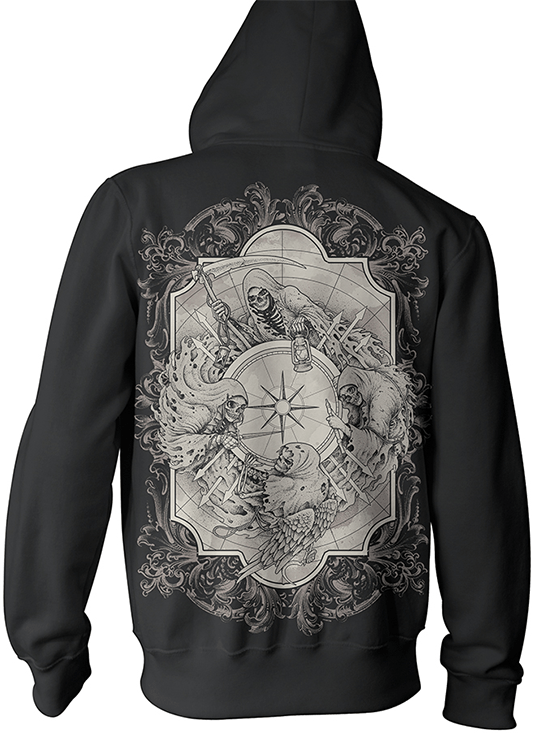 "Men's ""Doom Sayers"" Pullover Hoodie by Fortune Killer (Black) - www.inkedshop.com"