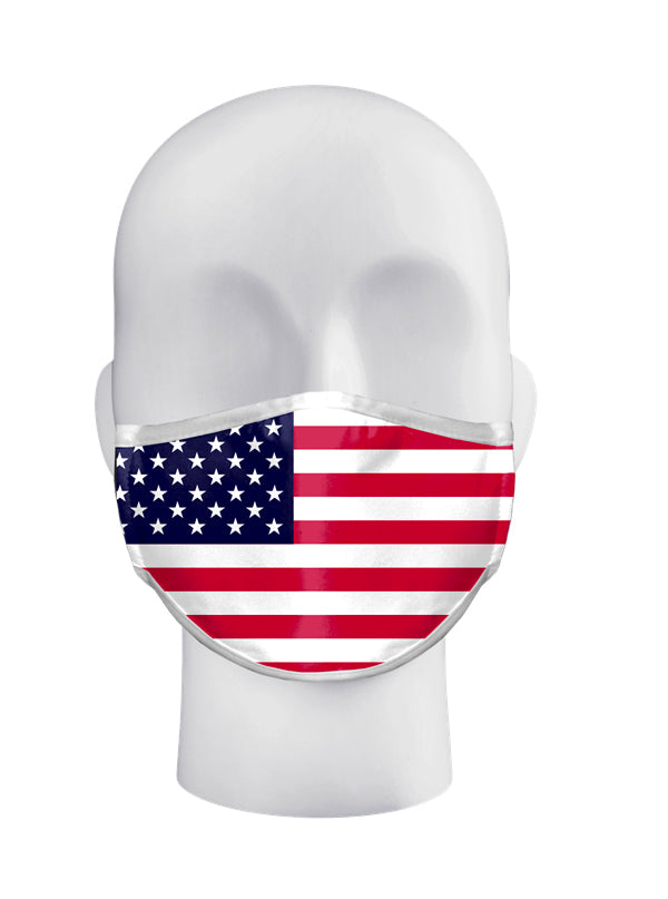 USA Flag 3-Ply Sublimated Face Mask