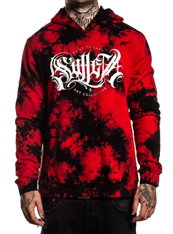 "Men's ""Flaks"" Hoodie by Sullen (Red/Black)"