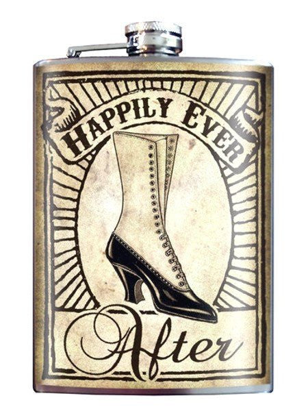 """Happily Ever After Bridesmaid"" Flask by Trixie & Milo - www.inkedshop.com"