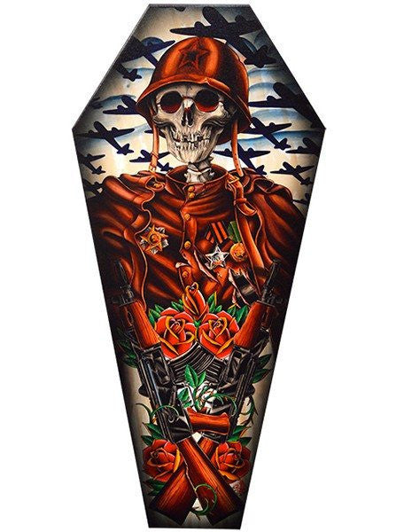 """Motherland"" Coffin Canvas by Black Market Art - www.inkedshop.com"