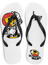 "Unisex ""Hola"" Flip Flops by Skelly & Co (White)"