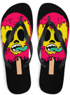"Unisex ""Ice Baby Ice"" Flip Flops by Skelly & Co (White)"