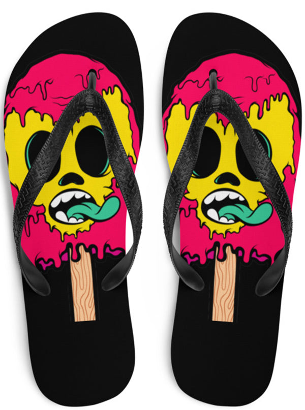 "Unisex ""Ice Baby Ice"" Flip Flops by Skelly & Co"